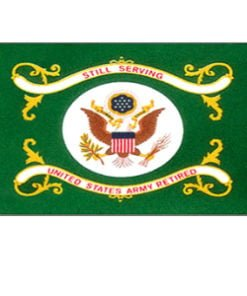 Army Retired Flag for indoor and outdoor