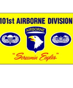 101st Airborne Military Flag (yellow))