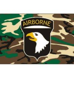 airborne (black) military flag